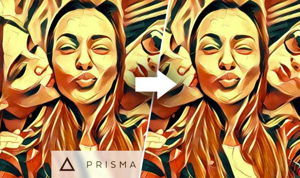 How to remove PRISMA water mark from my photo in iphone?
